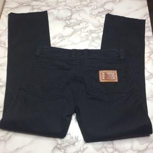 "Dolce & Gabbana ""Slimmy"" black straight leg jeans"